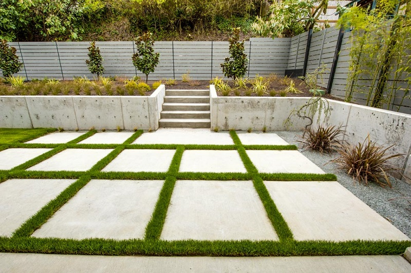 Modern seattle landscape architecture true scape design for Grid landscape design